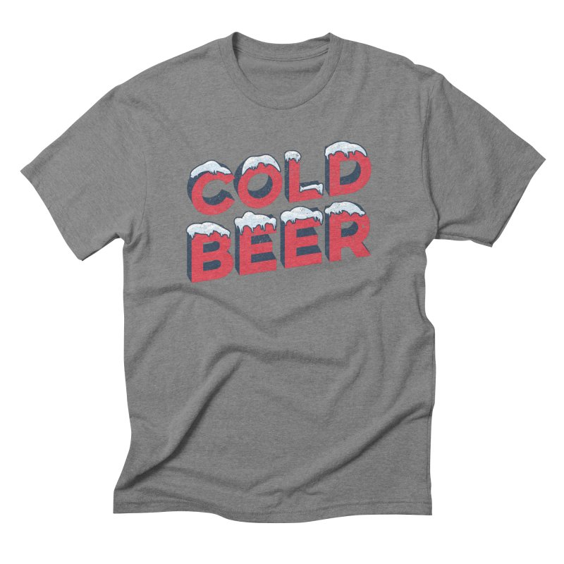 Cold Beer Men's Triblend T-Shirt by inkmark outpost