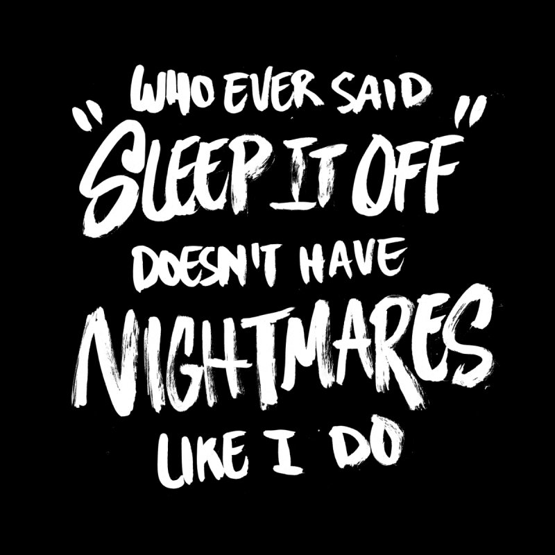 Nightmares Home Duvet by INK TUESDAY SHOP