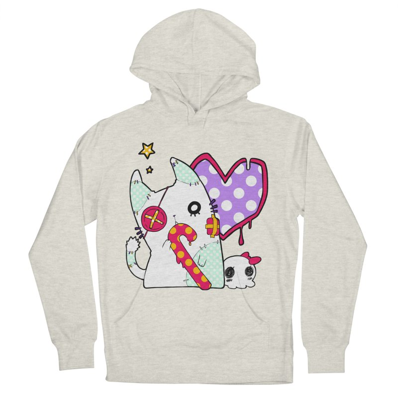 Ghost Cat (Color) Women's French Terry Pullover Hoody by Inma's store