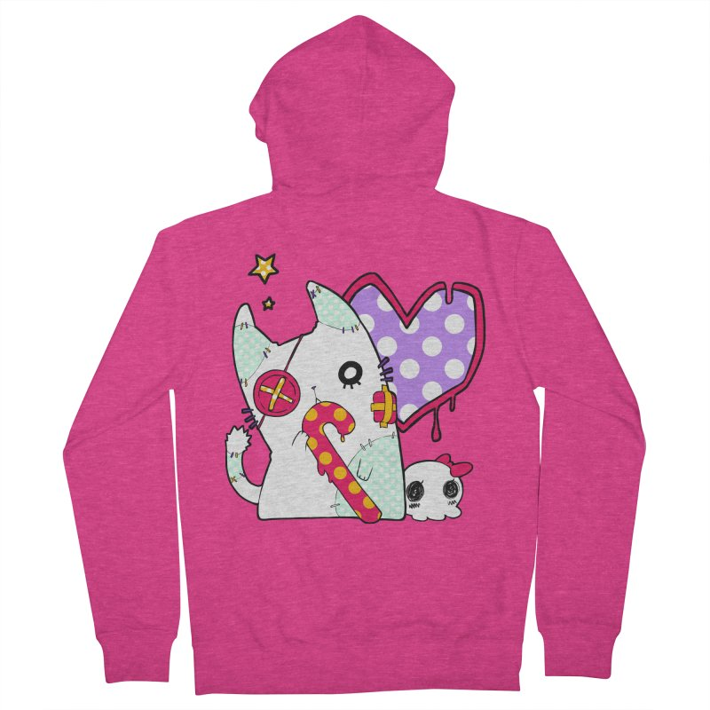 Ghost Cat (Color) Women's Zip-Up Hoody by Inma's store