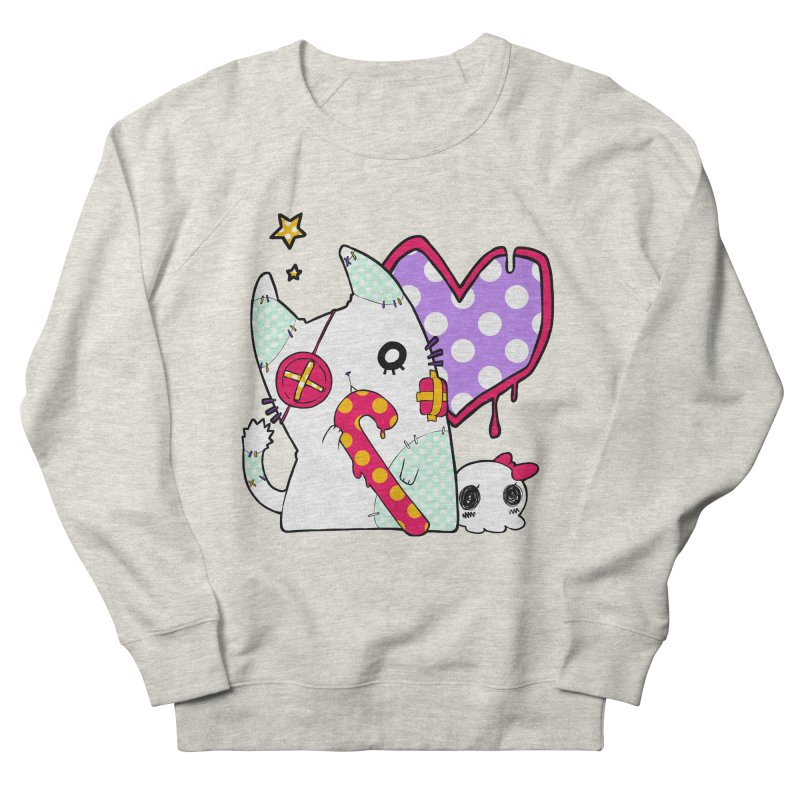 Ghost Cat (Color) Women's French Terry Sweatshirt by Inma's store