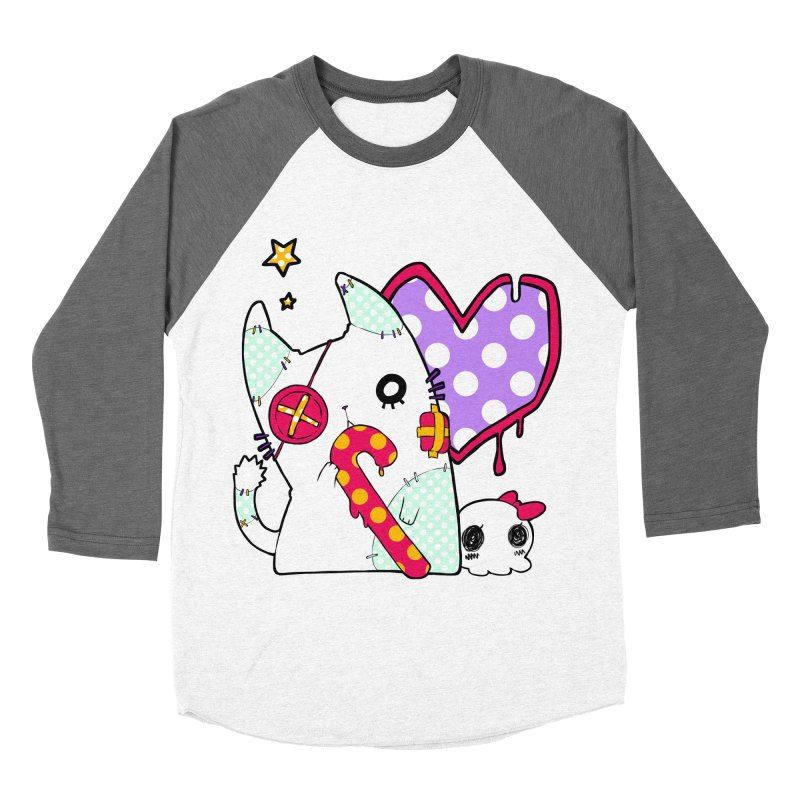 Ghost Cat (Color) Women's Baseball Triblend T-Shirt by Inma's store
