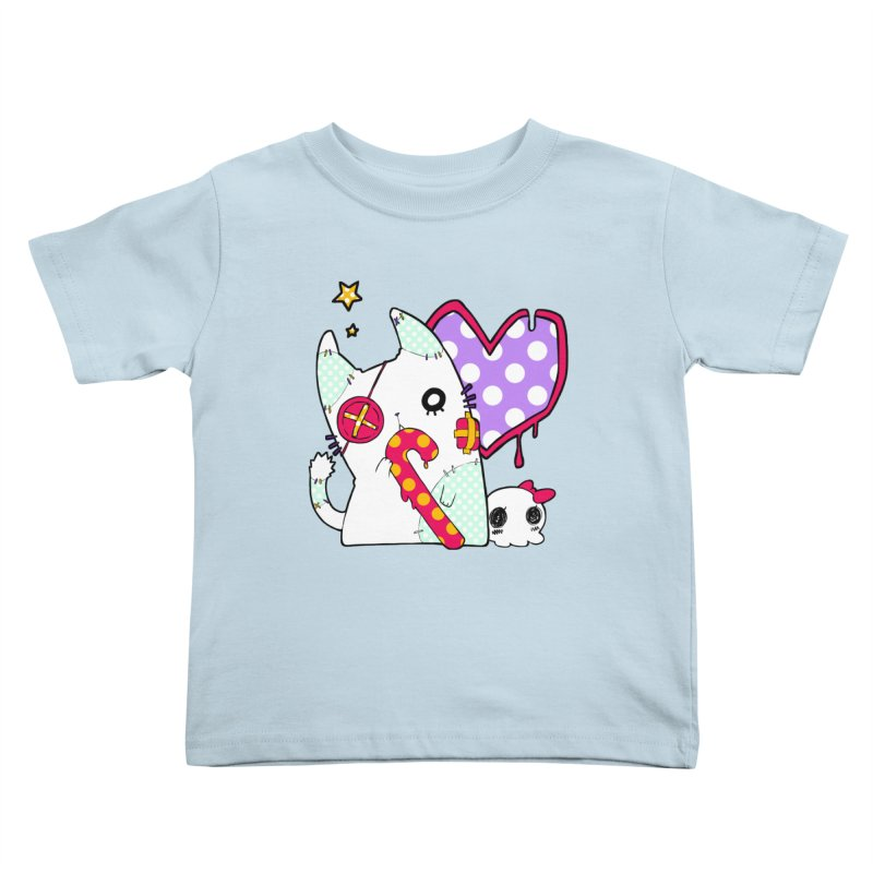 Ghost Cat (Color) Kids Toddler T-Shirt by Inma's store