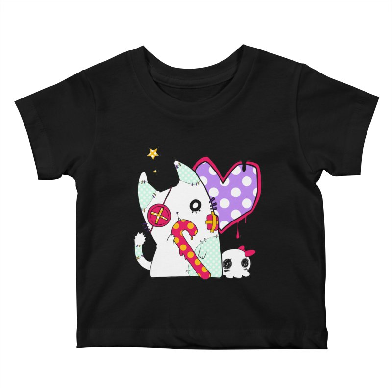 Ghost Cat (Color) Kids Baby T-Shirt by Inma's store