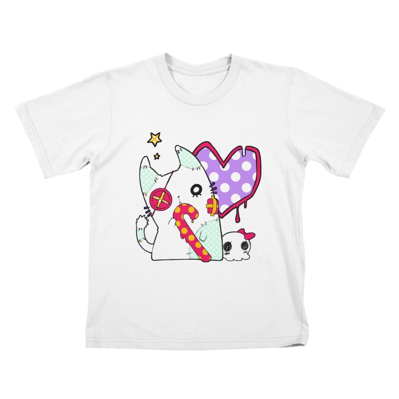 Ghost Cat (Color) Kids T-Shirt by Inma's store