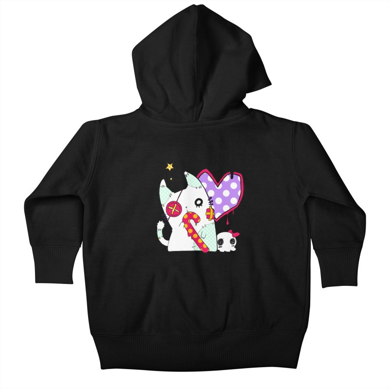 Ghost Cat (Color) Kids Baby Zip-Up Hoody by Inma's store