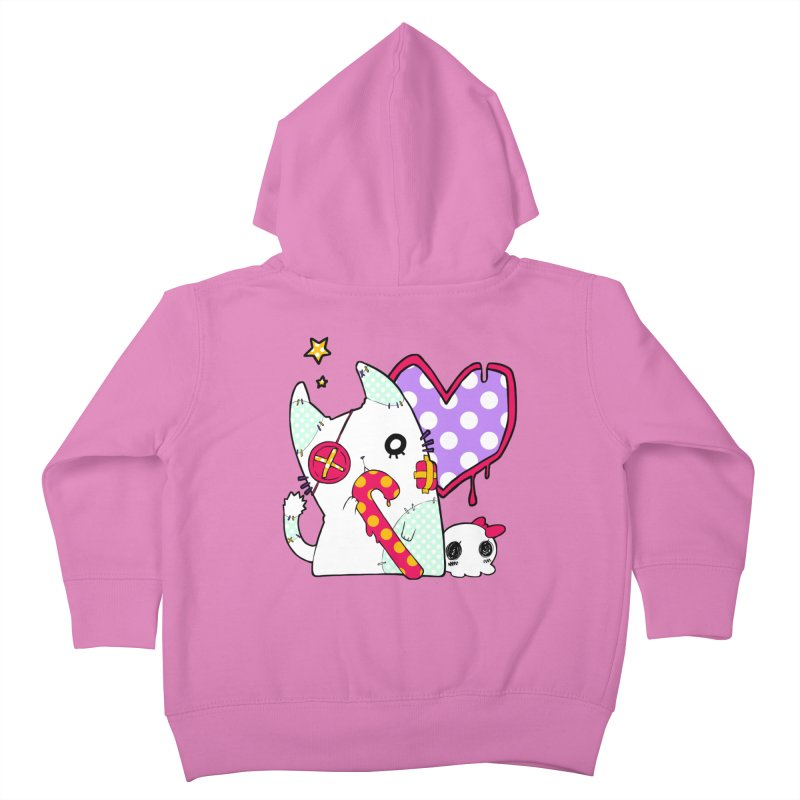 Ghost Cat (Color) Kids Toddler Zip-Up Hoody by Inma's store