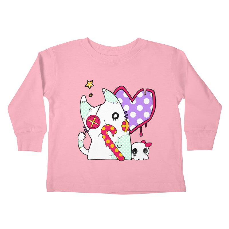 Ghost Cat (Color) Kids Toddler Longsleeve T-Shirt by Inma's store