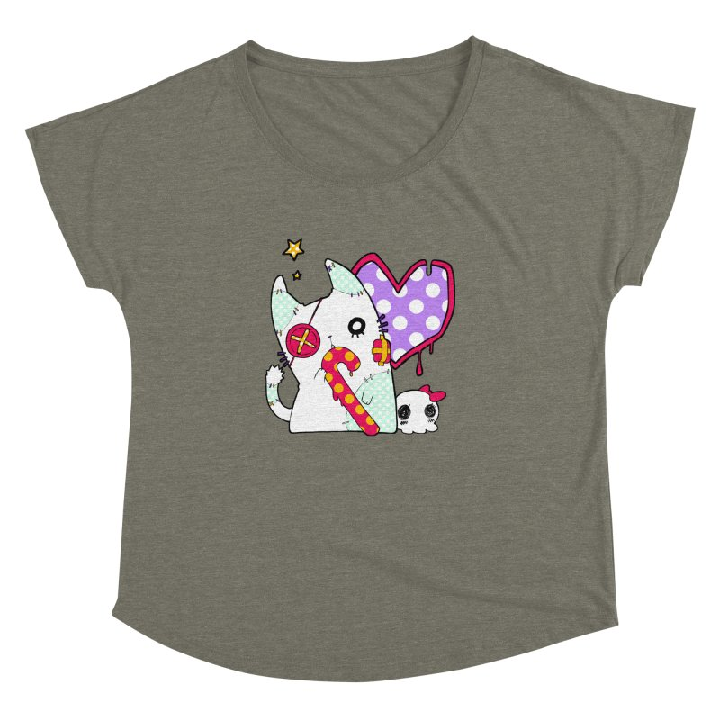 Ghost Cat (Color) Women's Dolman by Inma's store