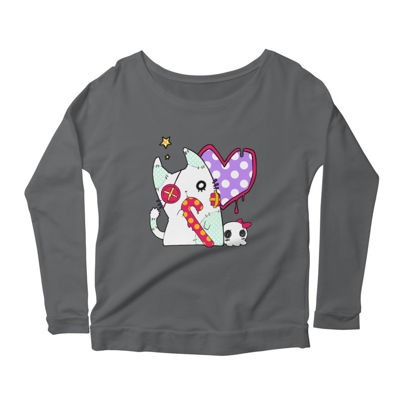 Ghost Cat (Color) Women's Longsleeve Scoopneck  by Inma's store