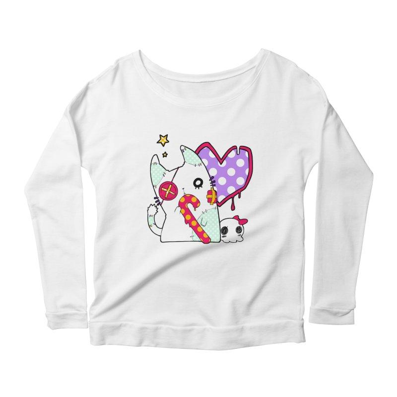 Ghost Cat (Color) Women's Longsleeve Scoopneck  by Inma's store