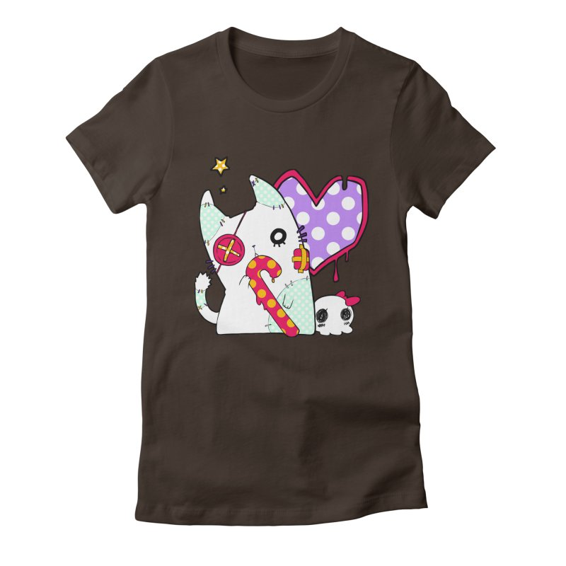 Ghost Cat (Color) Women's Fitted T-Shirt by Inma's store