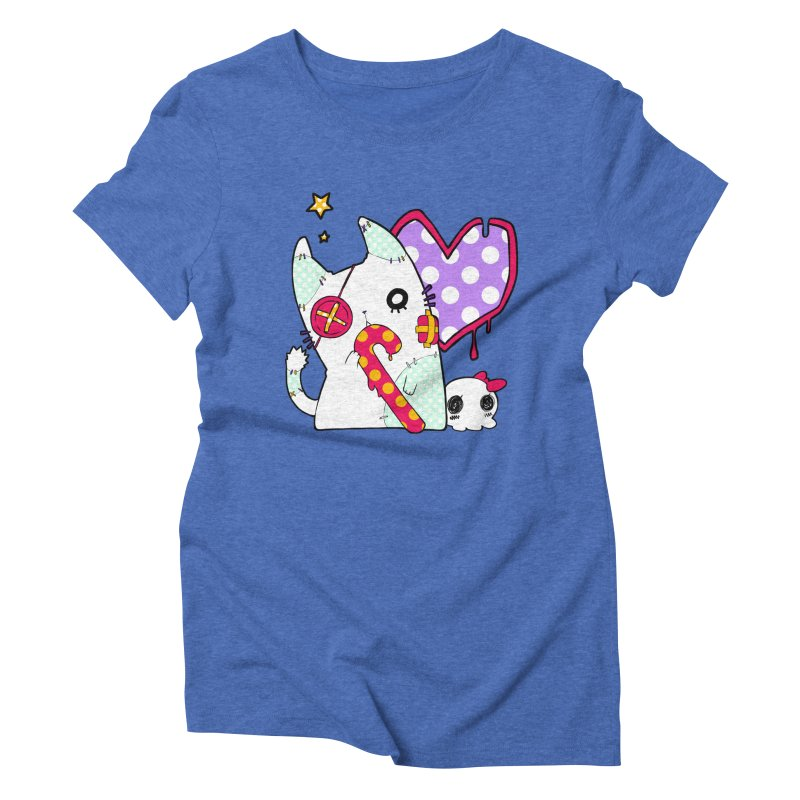 Ghost Cat (Color) Women's Triblend T-shirt by Inma's store