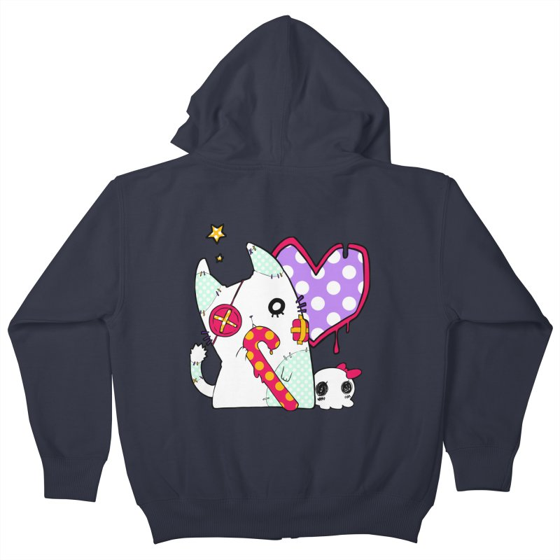 Ghost Cat (Color) Kids Zip-Up Hoody by Inma's store