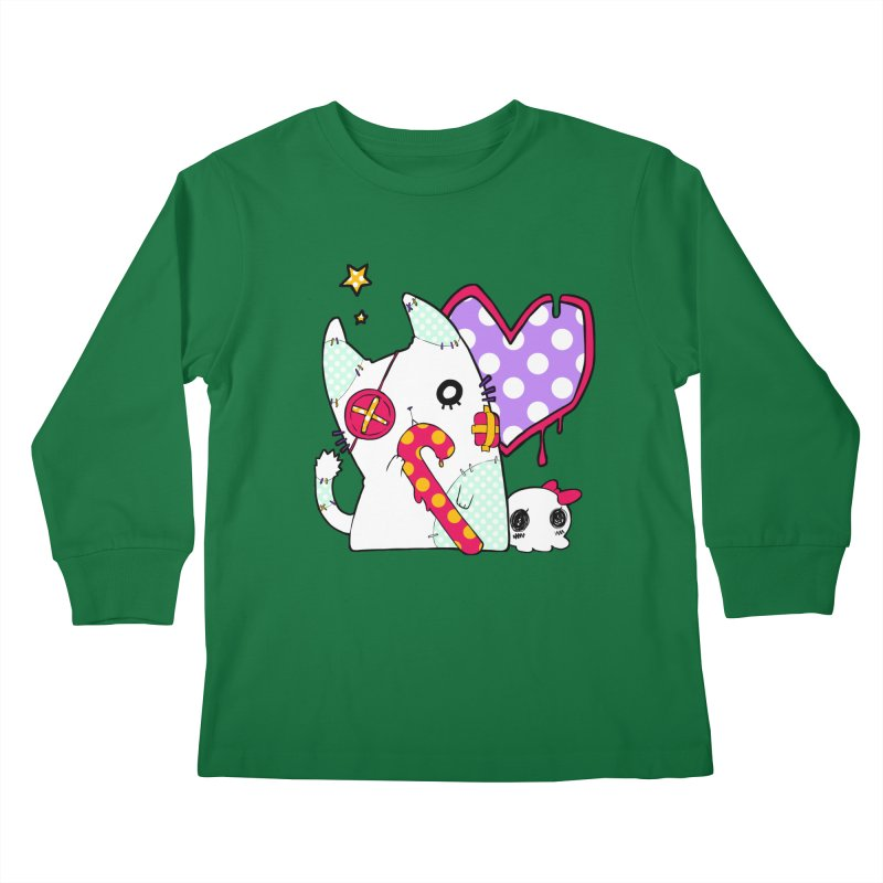 Ghost Cat (Color) Kids Longsleeve T-Shirt by Inma's store