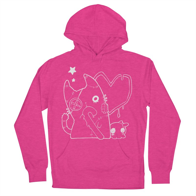 Ghost Cat (White) Women's French Terry Pullover Hoody by Inma's store