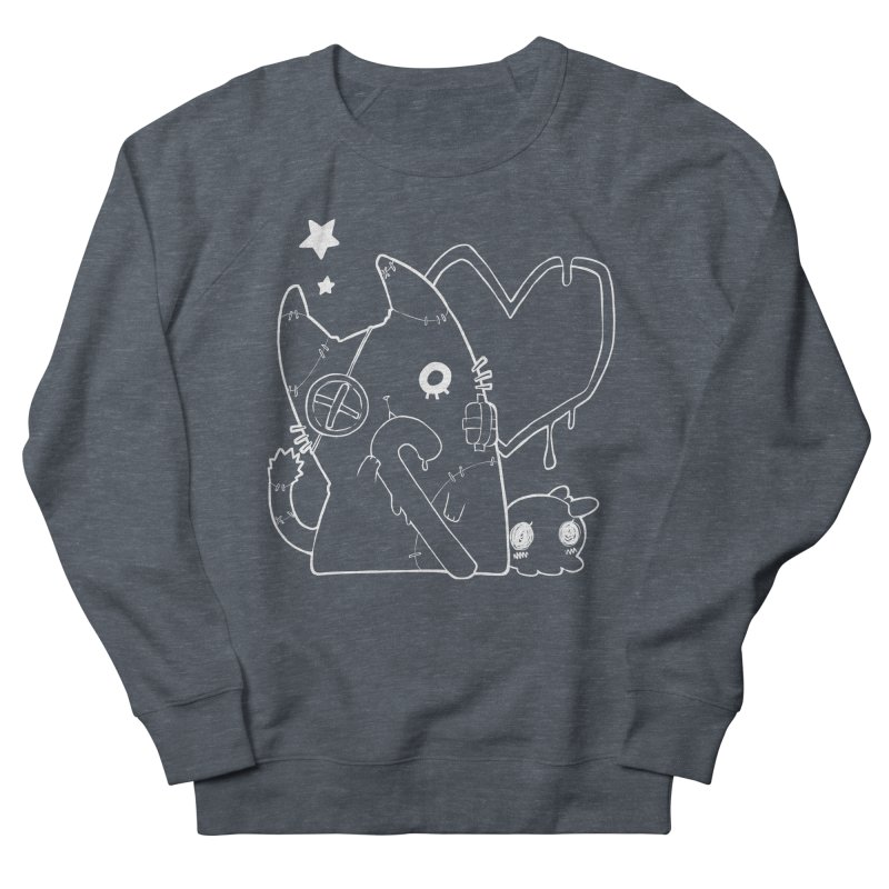 Ghost Cat (White) Women's French Terry Sweatshirt by Inma's store