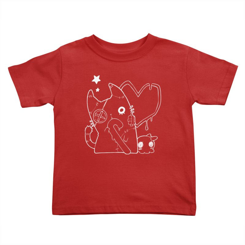Ghost Cat (White) Kids Toddler T-Shirt by Inma's store