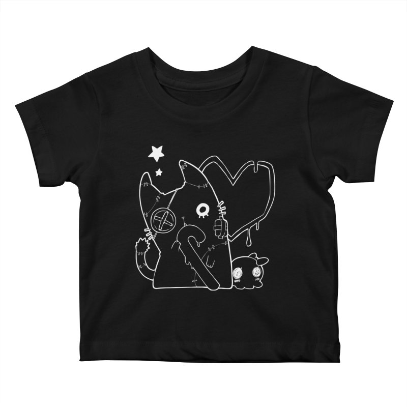Ghost Cat (White) Kids Baby T-Shirt by Inma's store