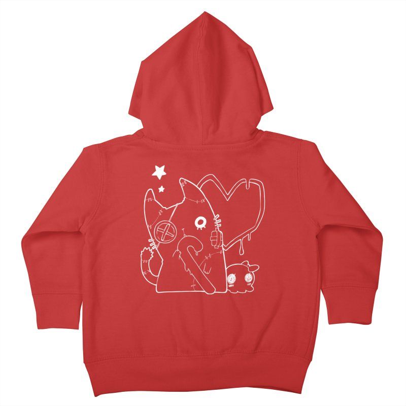 Ghost Cat (White) Kids Toddler Zip-Up Hoody by Inma's store