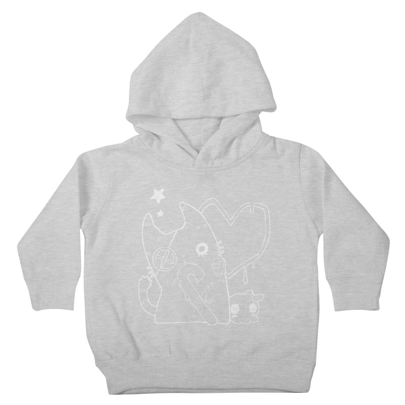 Ghost Cat (White) Kids Toddler Pullover Hoody by Inma's store
