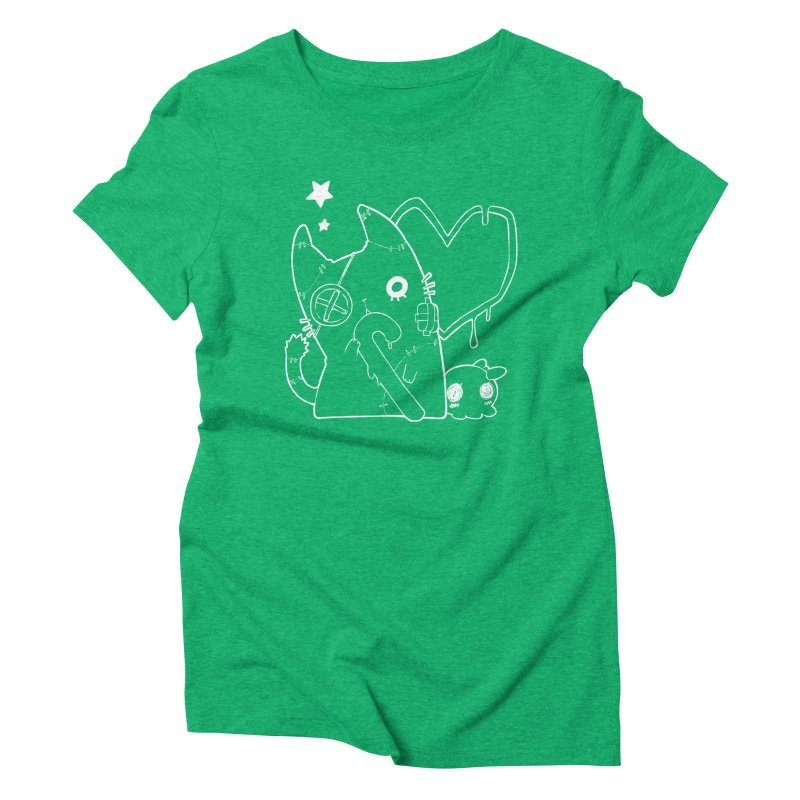 Ghost Cat (White) Women's Triblend T-Shirt by Inma's store