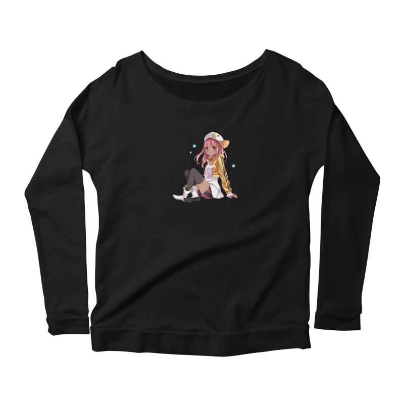 Sweet girl in Women's Scoop Neck Longsleeve T-Shirt Black by Inma's store