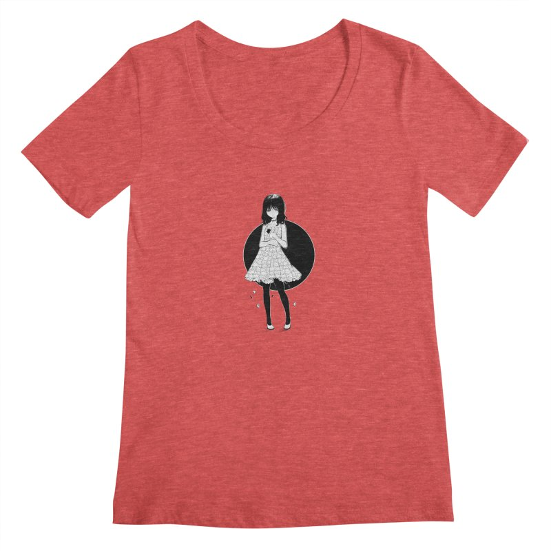 Puzzle girl Women's Scoopneck by Inma's store