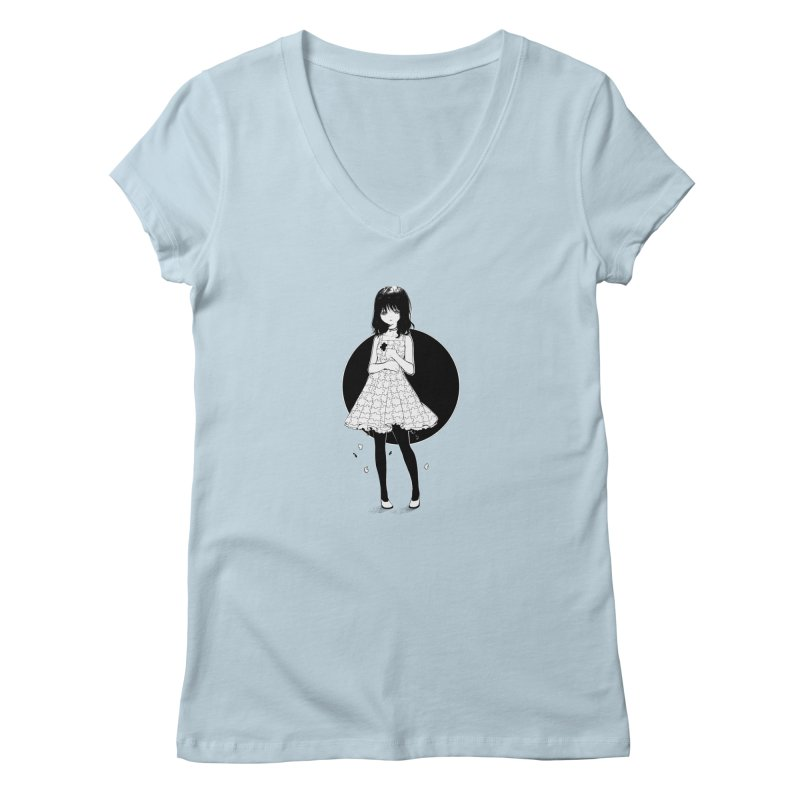 Puzzle girl Women's V-Neck by Inma's store