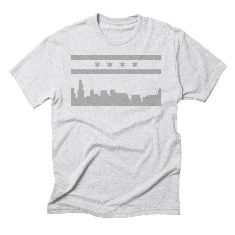Chicago Skyline Men's T-Shirt by innovativehistory's Artist Shop