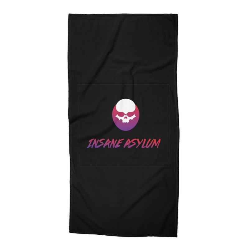 insane asylum Accessories Beach Towel by insaneasylumpodcast's Artist Shop