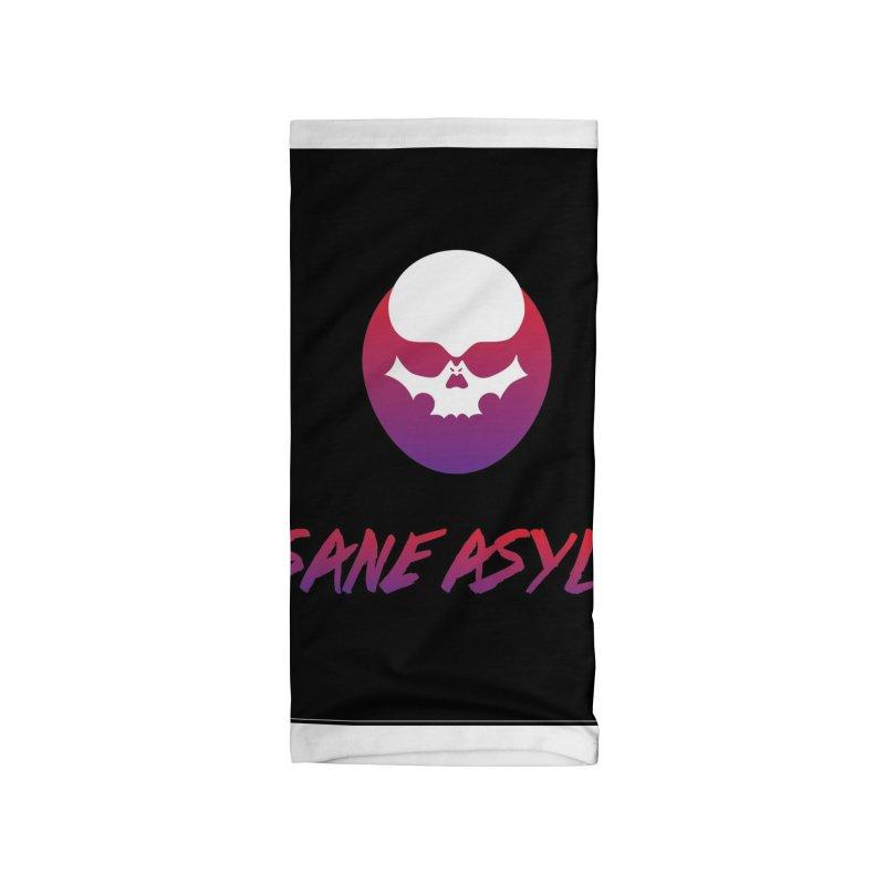 Insane Asylum logo Accessories Neck Gaiter by insaneasylumpodcast's Artist Shop
