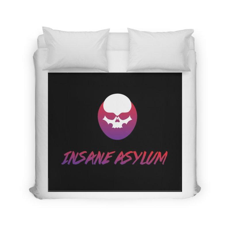 Insane Asylum logo Home Duvet by insaneasylumpodcast's Artist Shop