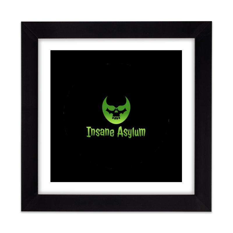 Insane Green Home Framed Fine Art Print by insaneasylumpodcast's Artist Shop