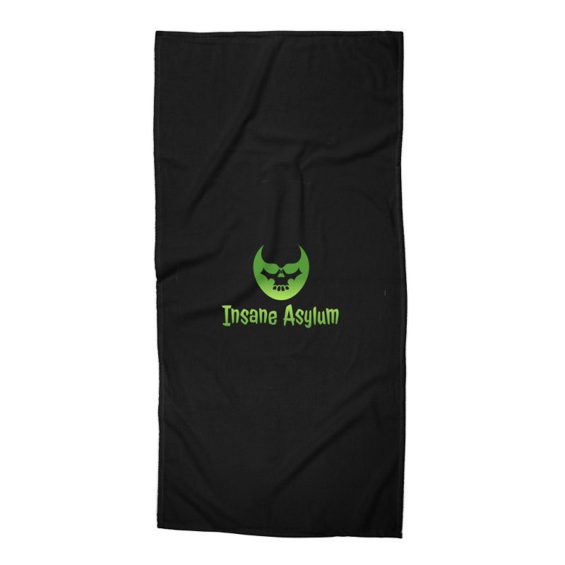 Insane Green Accessories Beach Towel by insaneasylumpodcast's Artist Shop