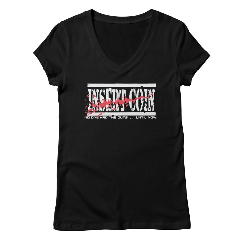 Insert NARC Women's Regular V-Neck by Insert Coin's Shop Of 90s Arcade Awesomeness