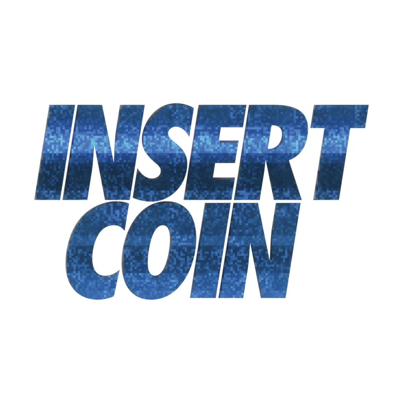 INSERT COIN BLUE LOGO Women's T-Shirt by Insert Coin's Shop Of 90s Arcade Awesomeness