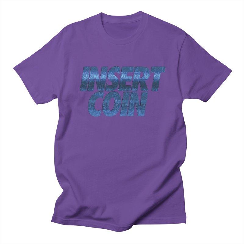 INSERT COIN BLUE LOGO Men's Regular T-Shirt by Insert Coin's Shop Of 90s Arcade Awesomeness