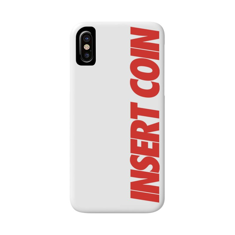 INSERT COIN VERTICAL LOGO in iPhone X / XS Phone Case Slim by Insert Coin's Shop Of 90s Arcade Awesomeness