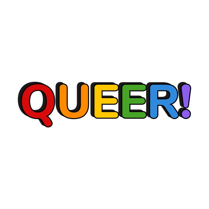 QUEER rainbow colors Men's T-Shirt by Inspire Me Artist Shop