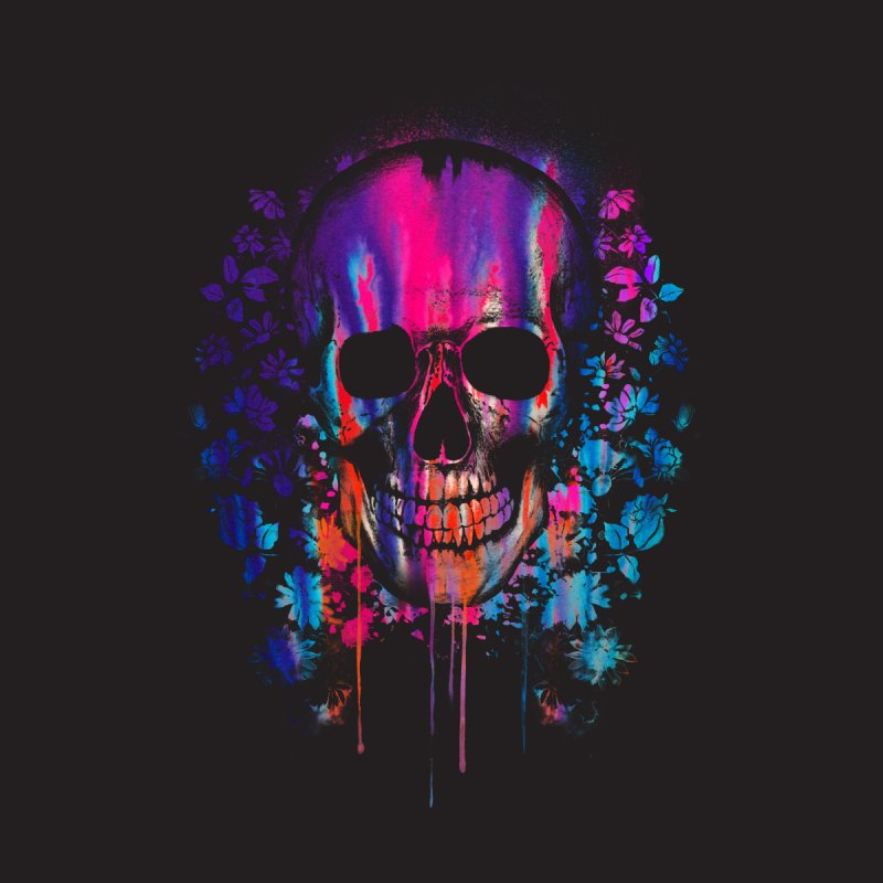 SKULL COLORS Men's T-shirt by Emerson Rauth