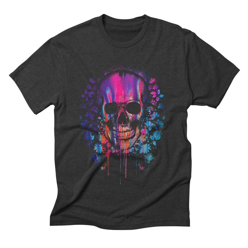 SKULL COLORS‏ Men's Triblend T-shirt by Emerson Rauth