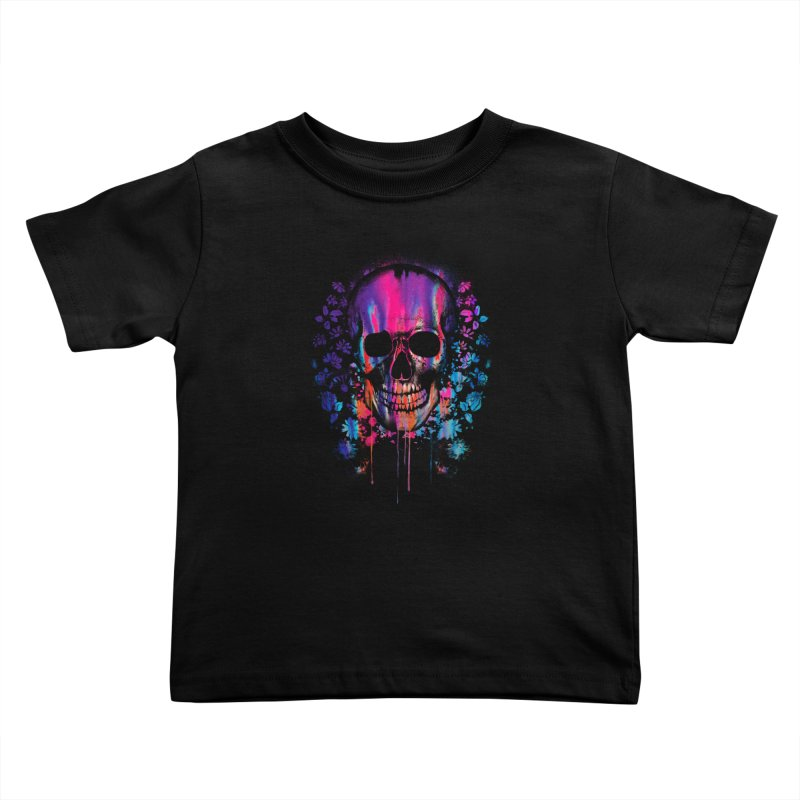 SKULL COLORS‏ Kids Toddler T-Shirt by Emerson Rauth