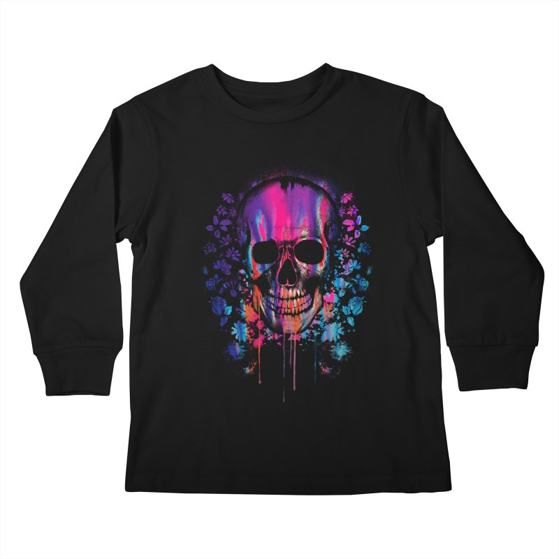 SKULL COLORS‏ Kids Longsleeve T-Shirt by Emerson Rauth