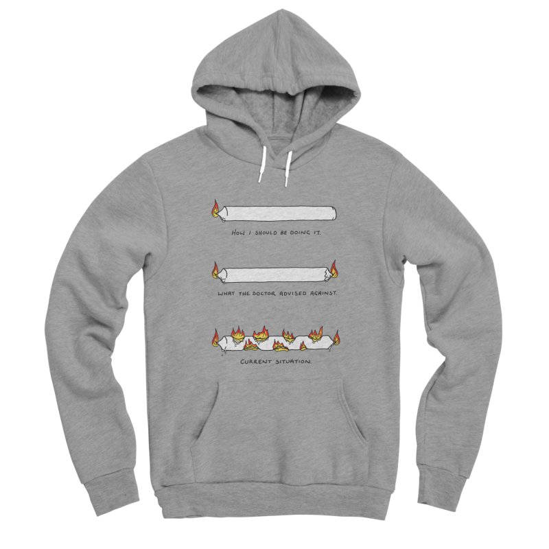Burning That Candle. Men's Sponge Fleece Pullover Hoody by Prinstachaaz
