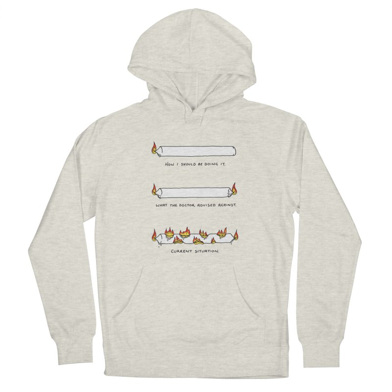 Burning That Candle. Men's French Terry Pullover Hoody by Prinstachaaz