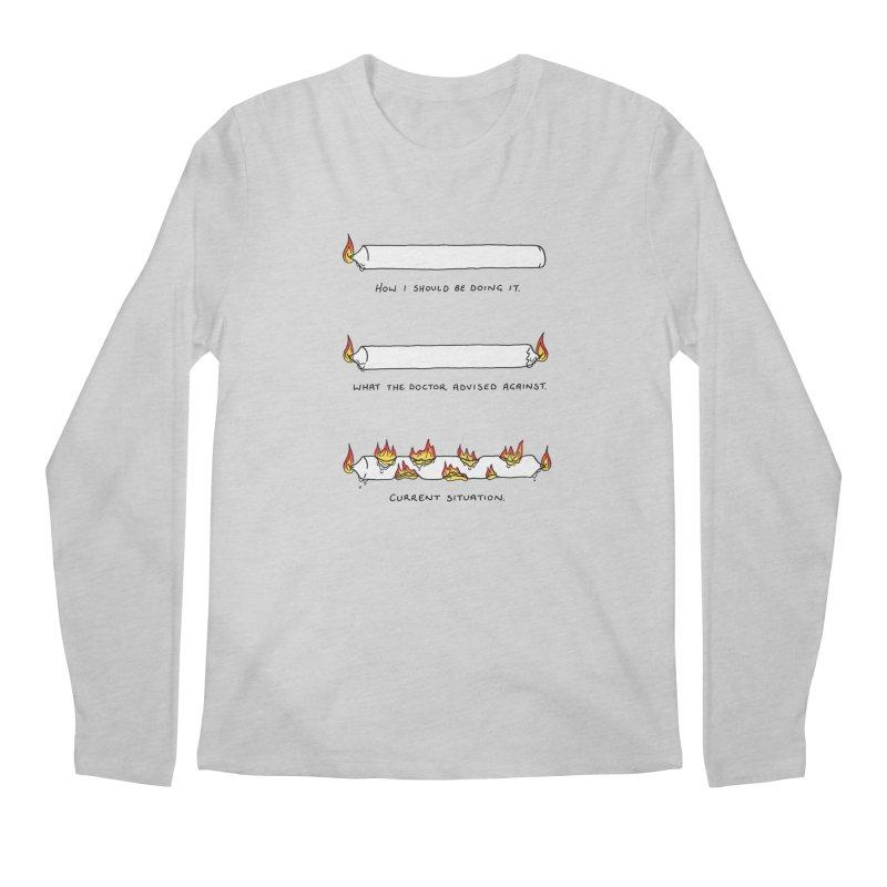 Burning That Candle. Men's Regular Longsleeve T-Shirt by Prinstachaaz