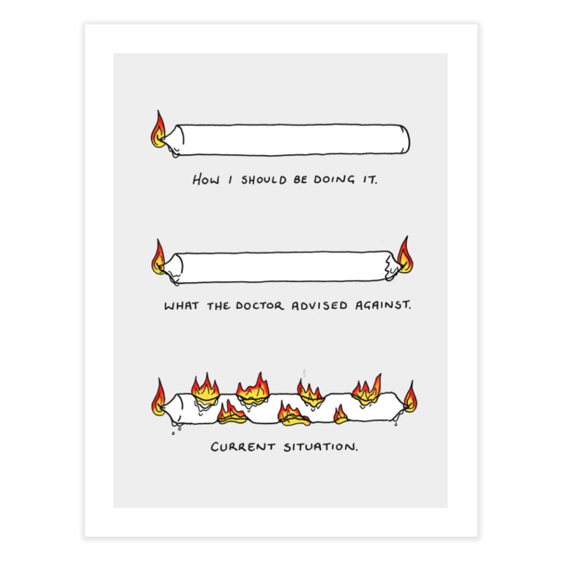Burning That Candle. Home Fine Art Print by Prinstachaaz