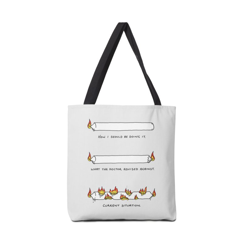 Burning That Candle. Accessories Tote Bag Bag by Prinstachaaz