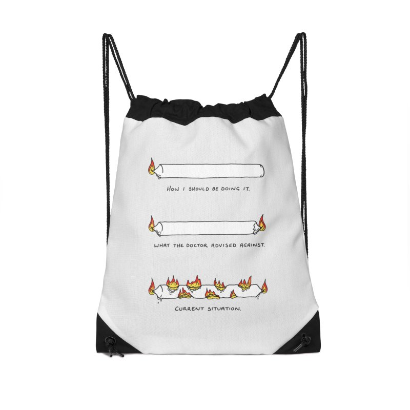 Burning That Candle. Accessories Drawstring Bag Bag by Prinstachaaz